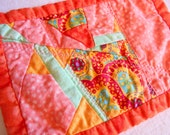 Summer Colors bright colorful quilted mug rug