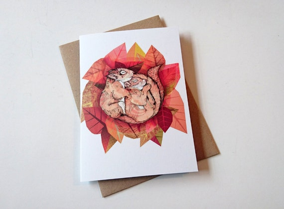 Squirrel Spoon // Greeting Card