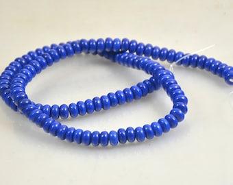 "3mmx6mm  Drum Lapis Strand , Charm Heishi Blue Lapis ,Gemstsone Beads One Full Strand Blue Lapis  15.5"""