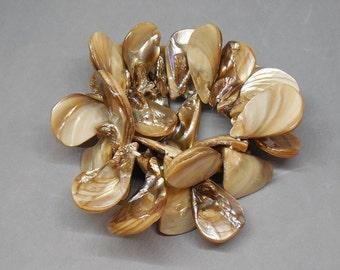 Chunky Dyed Abalone Stretch Bracelet