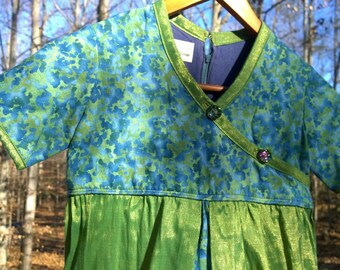 Batik Green Girls Dress