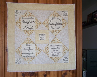 Daughter Quilted wall hanging