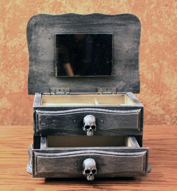 Halloweenified One Drawer Jewelry Box