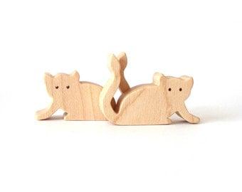 Wood Toy Tarsier Miniature Noah's Ark Animals Zoo Play Set Wooden Figurines Hand Cut Scroll Saw