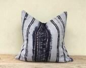"""Retro Homespun Hemp Dip dye Indigo blue Hand Woven Pillow Case 20"""" x 20""""  Pieces Of Tribal Costume"""