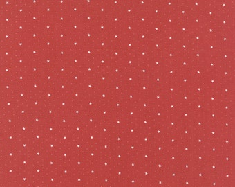 Miss Scarlet - Stars in Warm Red by Minick & Simpson for Moda Fabrics