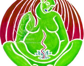"""Sticker - """"Heart Chakra"""" Mandala"""