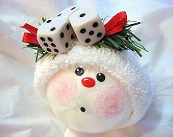 BUNCO ORNAMENT Christmas Townsend Custom Gifts - F