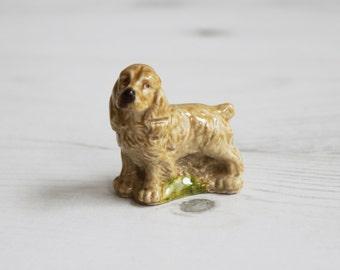 Wade Whimsies - Cocker Spaniel Dog Pound Red Tea  - Miniature Figurine