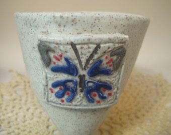 Blue Butterfly tripod mug