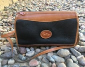 90s original Vintage Dooney & Bourke Black and Brown Handbag