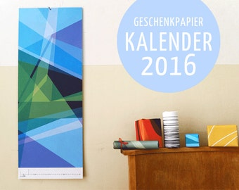Gift paper calendars 2016 (B)