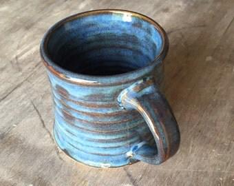 Coffee Mug, 10 oz Ceramic Mug Gift Coffee Cup Tea Mug in Moody Blue