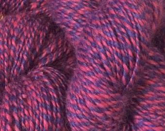 Alpaca Yarn (BABY) - Violet Pink Tweed (Hand Spun)