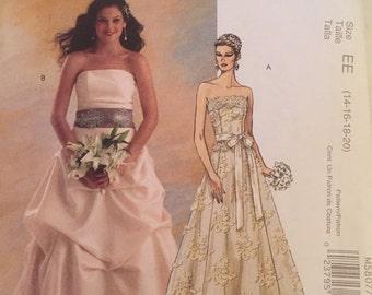 McCalls M5807 Bridal Elegance Wedding Dress  Pattern