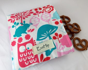 Reusable Snack Bag - Michael Miller Retro Forest Life  - Ready to Ship