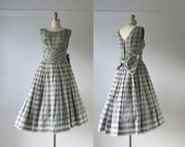 vintage 1950s dress / 50s dress / Unchained Melody
