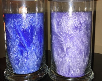 Large Signature Palm Wax Candle in Glass Jar with Wooden Wick