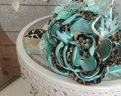 Mint cheetah headband cozette couture