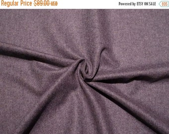 ON SALE Heathered Gray 100% Cashmere Jacket Weight Wool Fabric from Italy--One Yard