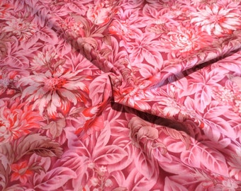 Stunning Pink October Skies Print Pure Cotton Lawn Fabric--One yard