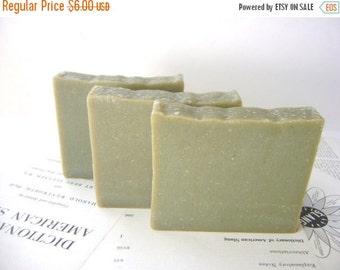 French Green Clay and Lemon Verbena Handmade Soap, Vegan and All Natural bar soap