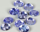 TANZANITE (32276)  PARCEL (10 Gems / 1.7 cts.) Blue 4 x 3mm - Tanzania Mined - Faceted