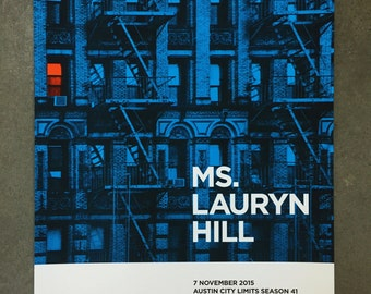 Ms Lauryn Hill Austin City Limits Poster