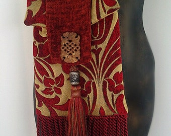 Tapestry Fringed Bohemian Bag Gypsy Bag Renaissance Bag Crossbody Bag