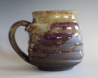 LARGE Pottery Mug, 18 oz, unique coffee mug, handmade ceramic cup, handthrown mug, stoneware mug, wheel thrown pottery mug, ceramics