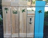 RESERVED For Paulacapaldo Custom Shutters Exterior Interior Cedar Wood Beach Cottage Lake Country House Shutter by CastawaysHall