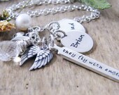 they fly with angels necklace personalized charm necklace memory necklace remembrance necklace