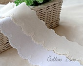 embroidered cotton lace by the yard (width 4.3cm) 83467