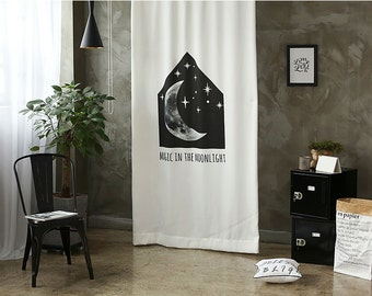Moonlight Black Out Wide Fabric Panel for Curtains (59 inches x 94 inches) 76418