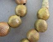 African Wound Brass Globes