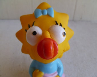 Maggie Simpson Rubber Doll The Simpsons  1990  Cake Topper