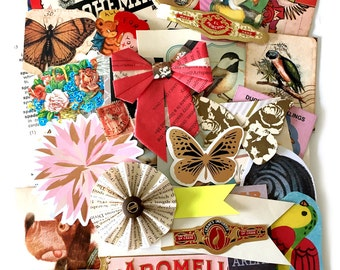 Bits and pieces scrap pack - Vintage paper scraps 5