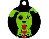Pet ID Tag - Zombie Puppy Dog Pet Tag, Dog Tag, Cat Tag, Luggage Tag, Child ID Tag