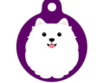 Pet ID Tag - Pomeranian Pet Tag, Dog Tag