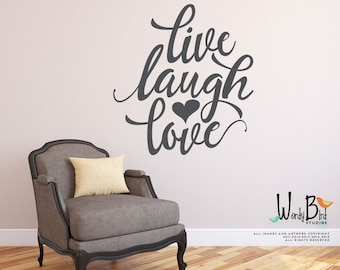 Live Laugh Love Gold Wall Decal - Gold Wall Stickers - Gold Decal