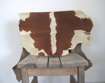 vintage cow skin/ animal skin/ cow hide accent
