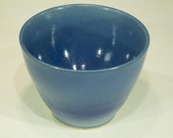 Potpourri Bowl, Indigo blue, Ornamental Vessel, Shade Pot, Ceramic Dish, Handmade, 24