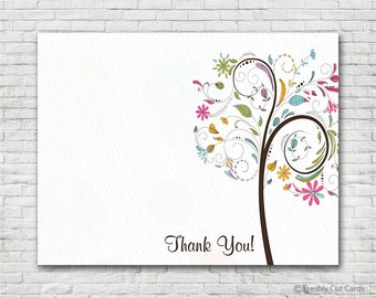 Colorful Tree Thank You Card - Instant Download