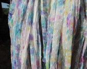 White Dotted Chiffon Soft And Airy Lovely Pastels Raised White Dots 50 To 55 Yards
