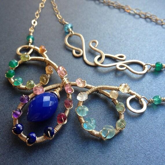 gold gemstone collar necklace