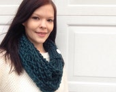 Womens Crochet Chain Infinity Scarf Many Colors Available- Womens scarf- Winter scarf- Warm scarf
