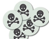 Circle Stickers, Birthday Party Decor, Favor Stickers, Party Décor // PIRATE SHIP