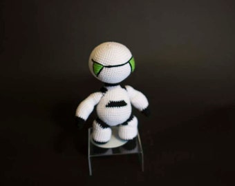 Marvin The Paranoid Android, Knitted Marvin the Andriod, Hitchiker's Guide To The Galaxy,