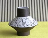 West Germany Böttger Keramik Werkstätte Ufo Vase BKW by Inge Böttger Hamburg