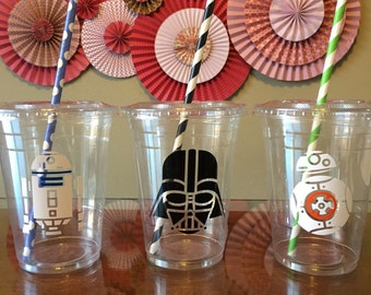 Star Wars inspired plastic cups 20 cups (16oz) ... Great for parties, birthdays, celebrations